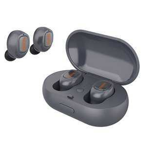 YISON bluetooth headset TWS-T1-GR, true wireless, με θήκη φόρτισης, γκρι