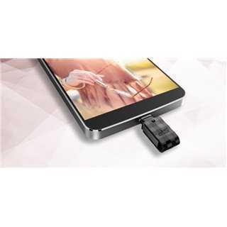SILICON POWER Dual USB Flash Drive C31, USB 3.1 & Type-C, 64GB, μαύρο