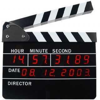 Ψηφιακό Ξυπνητήρι Κλακέτα Σκηνοθέτη