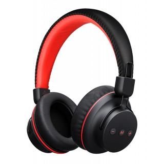 MPOW bluetooth headphones Η1 BMBH142BR, fast charging, μαύρο-κόκκινο