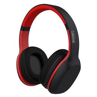 CELEBRAT Bluetooth headphones A18-BKRD, wireless & wired, μαύρο-κόκκινο