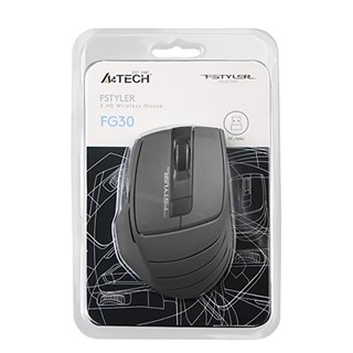 A4TECH ασύρματο ποντίκι FG30 Fstyler series, 2000DPI, 6 πλήκτρα, γκρι