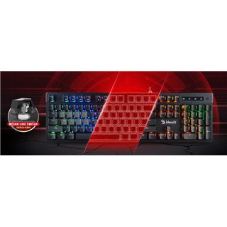 BLOODY gaming πληκτρολόγιο B500N, ενσύρματο, Mecha-Like Switch, μαύρο