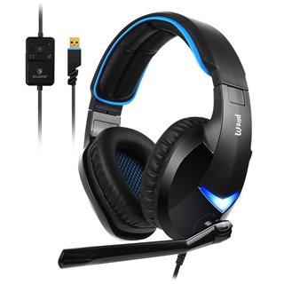 SADES Gaming Headset Wand SA-914-BL, 7.1CH, USB, 40mm ακουστικά