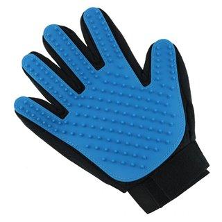 Γάντι βουρτσίσματος για κατοικίδια ZW5, μαύρο-μπλε