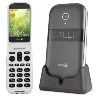 DORO 6050 Κινητό τηλέφωνο με ενίσχυση ήχου και πορτάκι, +35dB φωνή, +83dB κουδούνι graphite/white