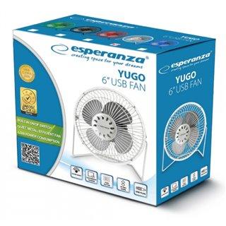 """ESPERANZA Επιτραπέζιος ανεμιστήρας USB Yugo EA149W, 6"""", λευκό"""