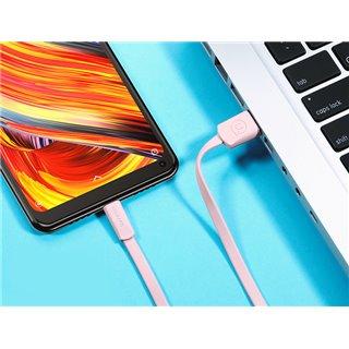 USAMS Καλώδιο USB σε Micro USB US-SJ201, 1.2m, ροζ