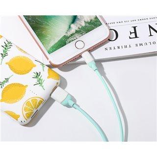 USAMS Καλώδιο USB σε Lightning US-SJ245, Ice-Cream, 1m, πράσινο