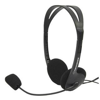 ESPERANZA Headphones με μικρόφωνο Scherzo EH102, 2x 3.5mm, 2.5m, μαύρα
