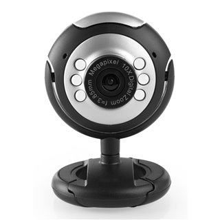 Web Camera CAM01, 0.3MP, 30fps, Plug & Play, μαύρη