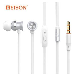 YISON earphones με μικρόφωνο D7, λευκό