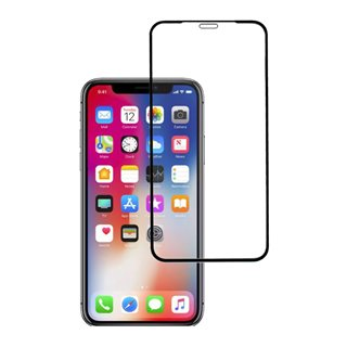 POWERTECH Tempered glass High series, full glue, iPhone ΧS, μαύρο