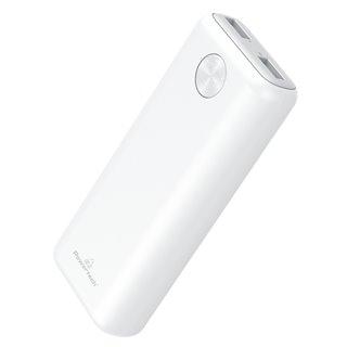 POWERTECH Power Bank PT-802 10000mAh, 2x USB Output, 2.1A, λευκό