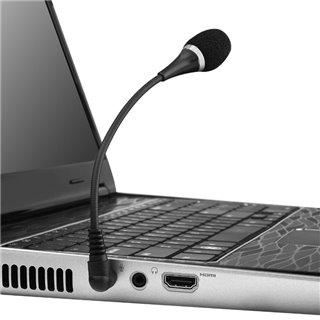 POWERTECH εύκαμπτο μικρόφωνο CAB-J042, 3.5mm, μαύρο