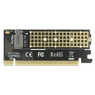 DELOCK Κάρτα Επέκτασης PCI-e x16 σε M.2 Key M 90300, NVMe