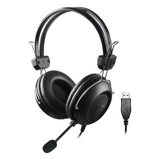 A4TECH Headset HU-35, USB, 40mm ακουστικά, 102 dB, μαύρα