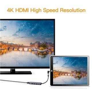 USB Type-C HUB CAB-UC045, 3x USB 3.0, USB-C PD, HDMI 4K