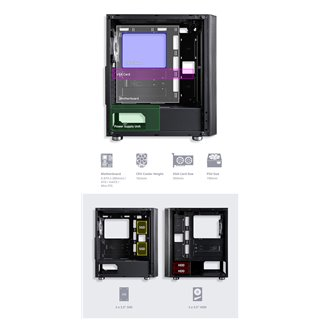 ZALMAN PC case R2 mid tower 420x207x457mm, 1x fan, διάφανο πλαϊνό, μαύρο