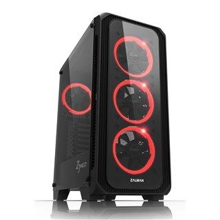 ZALMAN PC case Z7 Neo, 420x213x460mm, 4x fan, διάφανο εμπρός-πλαϊνό