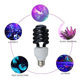 Λάμπα UV αποστείρωσης χώρου UV10, spiral, 15W, E27, μαύρη