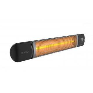 Επιτοίχιο θερμαντικό με τηλεκοντρόλ Luxeva PRO WL 2500W BLACK