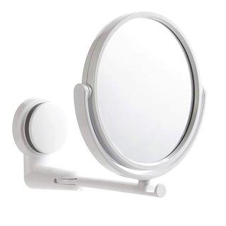 Καθρέφτης δύο όψεων TOOL-0043, με επιτοίχια βάση στήριξης, λευκός