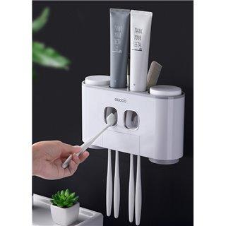 ECOCO Διανεμητής οδοντόκρεμας με βάσεις οδοντόβουρτσας και ποτήρια E1802