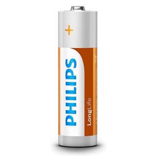 PHILIPS LongLife Zinq chloride μπαταρίες R6L4B/10 AA R6 Mignon, 4τμχ
