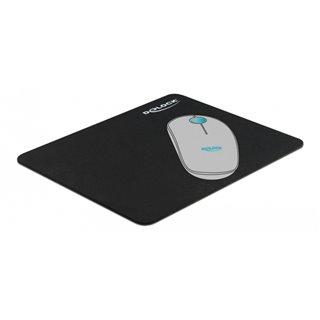 DELOCK mouse pad 12005, 22x18x0.2cm, μαύρο