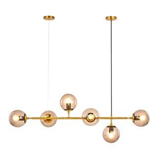 POWERTECH πολύφωτο φωτιστικό οροφής HLL-0024, 6x E27, μεταλλικό, χρυσό