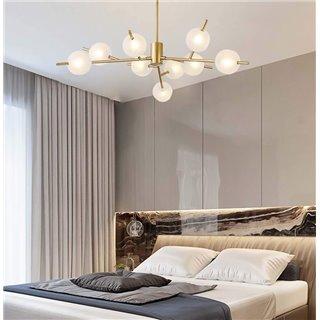 POWERTECH πολύφωτο φωτιστικό οροφής HLL-0025, 9x G9, μεταλλικό, χρυσό