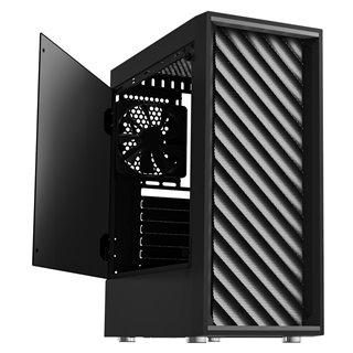 ZALMAN PC case T7, mid tower, 384x202x438mm, 2x fan, διάφανο πλαϊνό