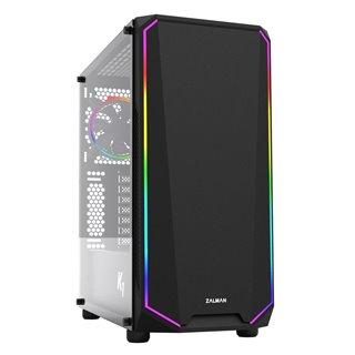 ZALMAN PC case K1 Rev.B mid tower, 458x210x450mm, 2x fan