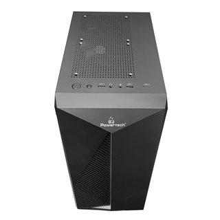 POWERTECH Gaming case PT-848, tempered glass, 80mm fan, PSU 500W PT-864