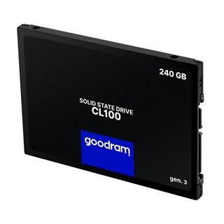 """GOODRAM SSD CL100 Gen.3 240GB, 2.5"""", SATA III, 520-400MB/s, 3D TLC NAND"""