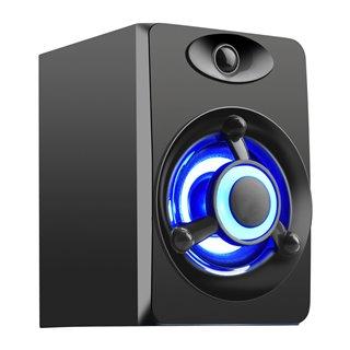 POWERTECH ηχεία Crystal sound PT-841, 2.1, 5W + 2x 3W, 3.5mm, μαύρα
