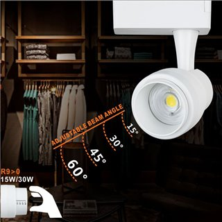 LIPER LED track light LPTRL-30E02, IP20, 30W 4000K, μεταλλικό, λευκό