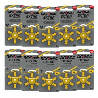 Μπαταρίες ακουστικών Rayovac Extra Advanced 60 μπαταρίες Νο 10