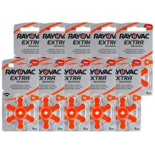 Μπαταρίες ακουστικών Rayovac Extra Advanced 60 μπαταρίες Νο 13