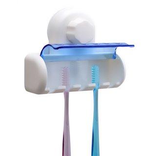 Βάση αποθήκευσης για 5 οδοντόβουρτσες CLN-0023, με βεντούζα, λευκό