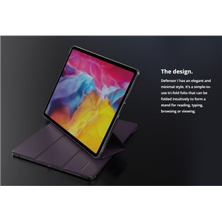 "ROCKROSE θήκη προστασίας Defensor I για iPad 10.2"" 2019/2020, μαύρη"