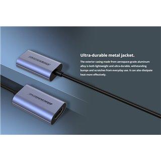 ROCKROSE αντάπτορας Type-C σε HDMI Infinity V, μεταλλικός, γκρι-μαύρο