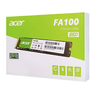 ACER SSD PCIe Gen3x4 M.2 FA100, 256GB, 1950-1300MB/s