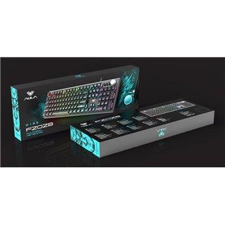 AULA Gaming πληκτρολόγιο F2028, RGB, μαύρο-γκρι