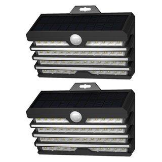 BASEUS LED ηλιακό φωτιστικό DGNEN-D01, 5.1W, 1800mAh, IP65, μαύρο, 2τμχ