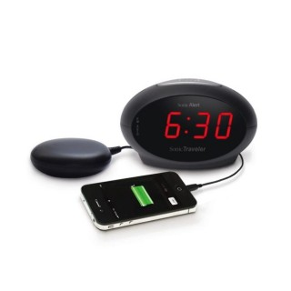 Geemarc Sonic Traveller SBT600SS- Ρολόι ξυπνητήρι με μονάδα δόνησης και θύρα USB για φόρτιση smartphones