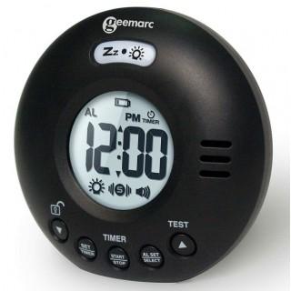 Geemarc Wake n Shake Voyager Φορητό ρολόι ξυπνητήρι ιδανικό για ταξίδια - Μαύρο