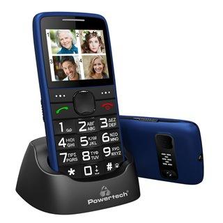 POWERTECH Κινητό Τηλέφωνο Sentry Eco PTM-24, SOS Call, με φακό, μπλε