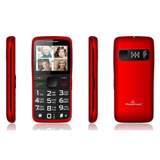 POWERTECH Κινητό Τηλέφωνο Sentry Eco PTM-25, SOS Call, με φακό, κόκκινο